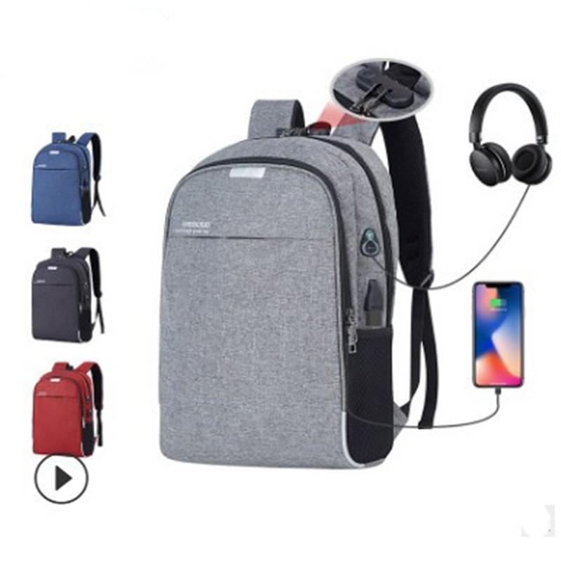 包包女包新款2020电脑商务双肩包男书包旅行防盗便携USB充电脑包