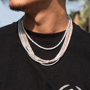 ICEKID18K网球链钻链hiphop珠宝嘻哈饰品钻石项链