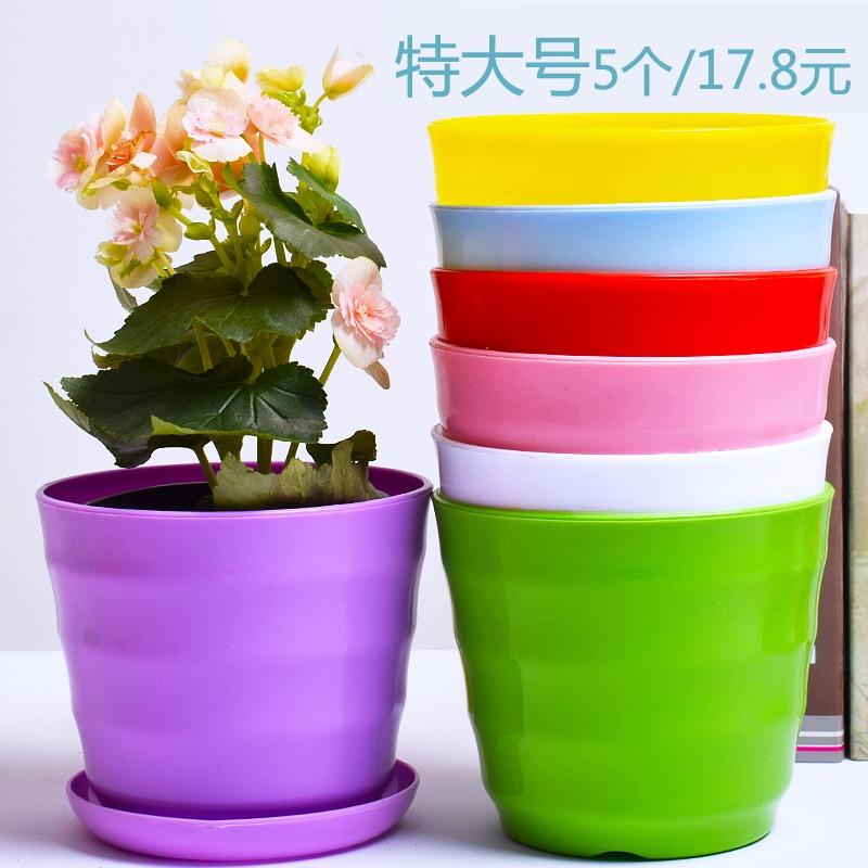 Круглый большой разноцветный Цветочный горшок принт Личность простой смолы суккулентный горшечный зеленый горшок растений