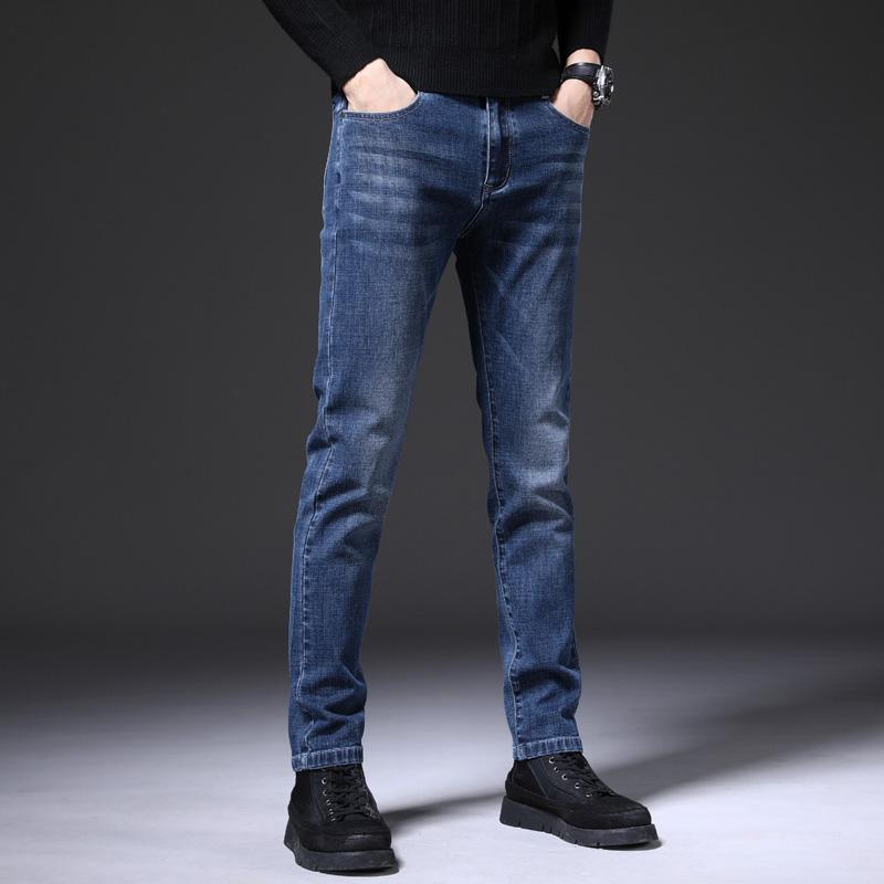 外はビジネスのジーパンの男の柔らかい順の男性のズボンのブランドの特価の切断コードのクリアランスを着て綿の筒のまっすぐな桶のズボンを処理します