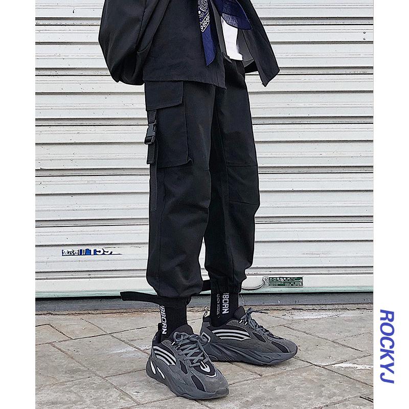 韩版秋季新款纯色男士宽松工装裤子(非品牌)
