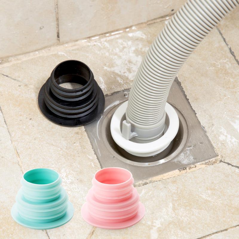 衛生間下水道密封圈蓋子洗衣機排水管地漏蓋廚房下水管防臭密封塞