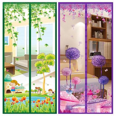 夏季加密魔术贴防蚊门帘磁性纱窗纱门家用卧室客厅隔断免打孔定做