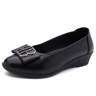妈妈鞋软底舒适新款中年大码单鞋可在爱乐优品网领取90元淘宝优惠券