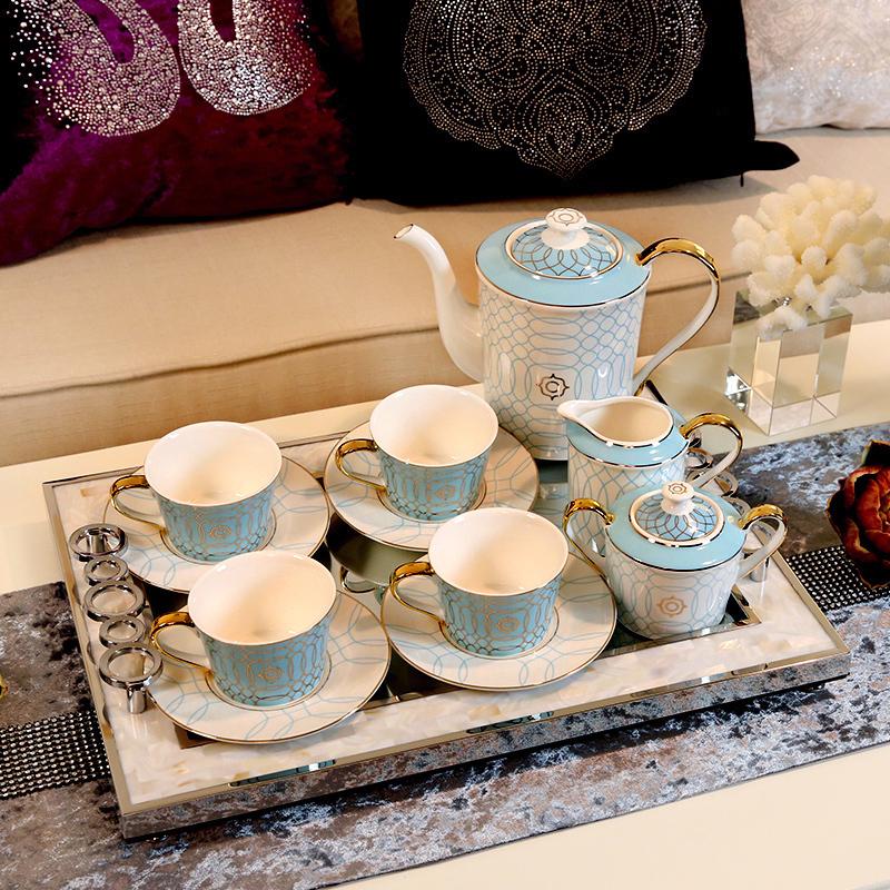 新古典欧式家居样板间装饰品 咖啡杯咖啡具英式下午茶具套装