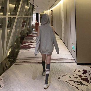 健身运动袜 TB织带袜子条纹四条杠减龄少女心中长筒袜网红ins潮牌