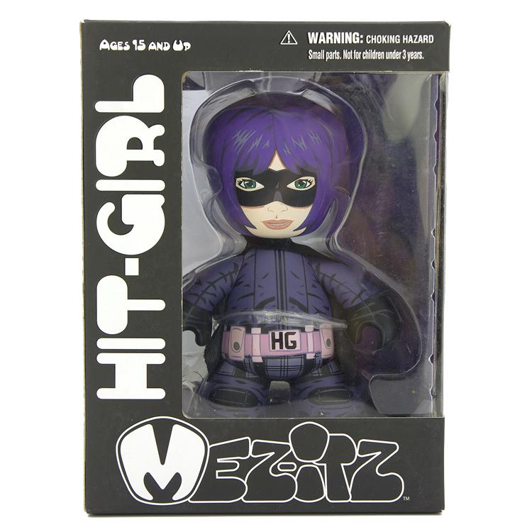 MEZCO MEZ-ITZ Hit Girl木制人偶 蝙蝠女侠海扁王 超杀女公仔玩偶
