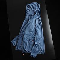 公司整单!UPF50+  夏季男士薄款高弹透气连帽防晒皮肤衣夹克外套