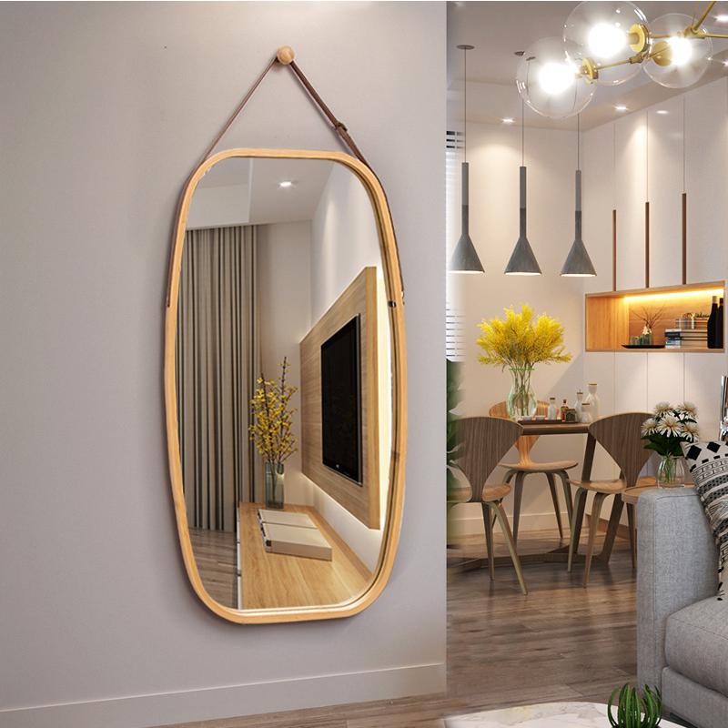 欧式壁挂门厅卧室半身贴墙大镜子(非品牌)