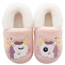 Children's cotton slippers Boys 1-3 years old 2 autumn and winter babies with cute children indoor girls home slippers