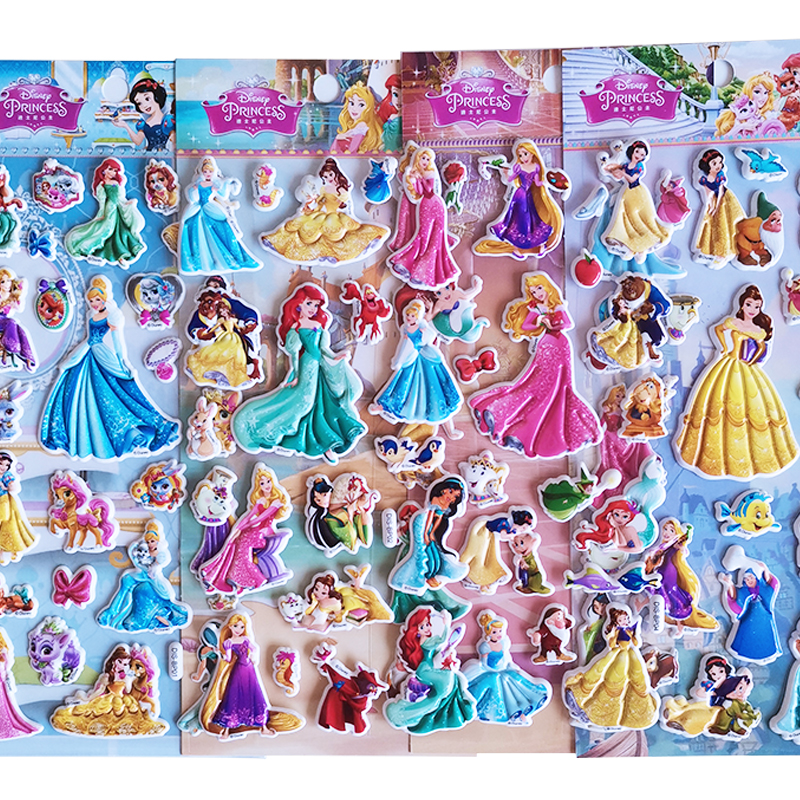 Disney Princess Little Mermaid Decal Disney Snow White Ice girl Issa Crystal Sticker sticker