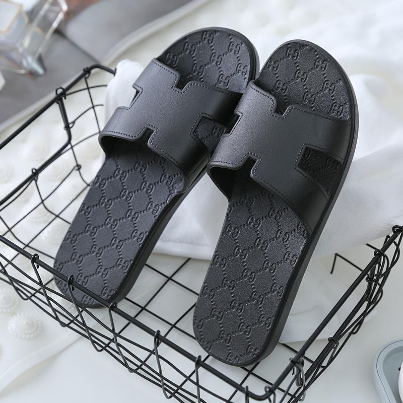 2021新款凉拖鞋男士外穿纯色简约一体防滑软底轻质浴室拖鞋女夏季