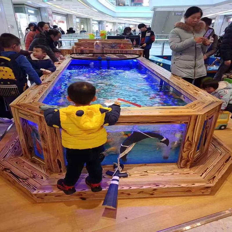 定制商用喂奶鱼鱼池 商场夜市摆摊移动吃奶鱼鱼池玻璃钢溜溜鱼池
