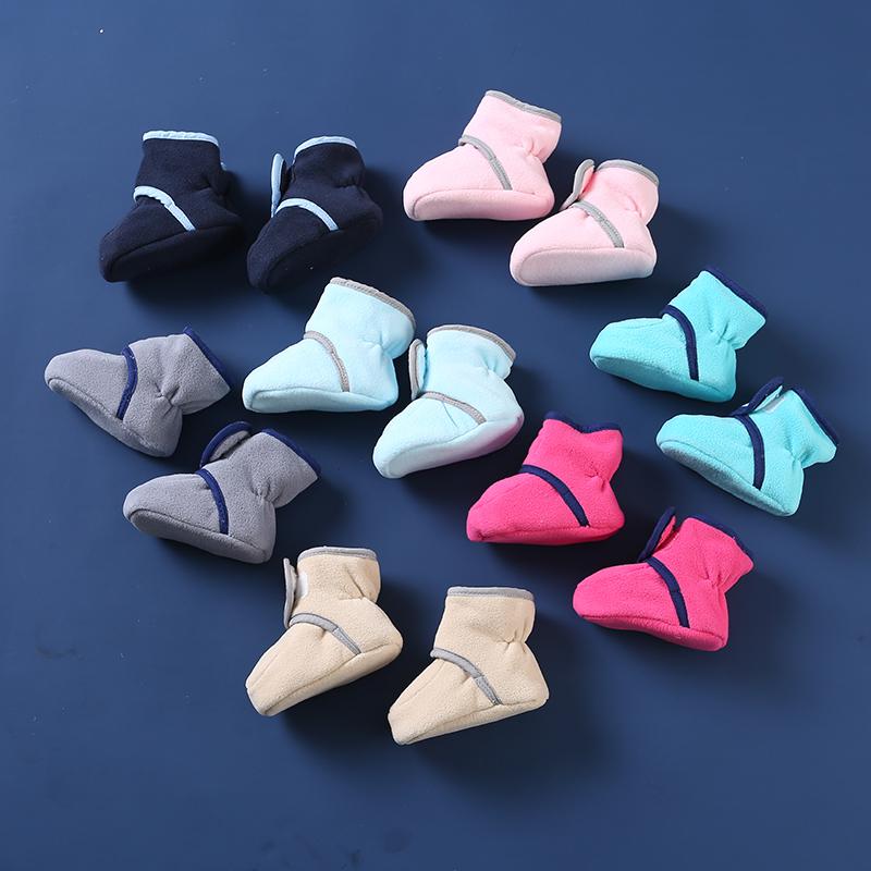 婴儿鞋子0-6-12个月女宝宝软底学步鞋袜1岁新生儿棉鞋春秋冬不掉8