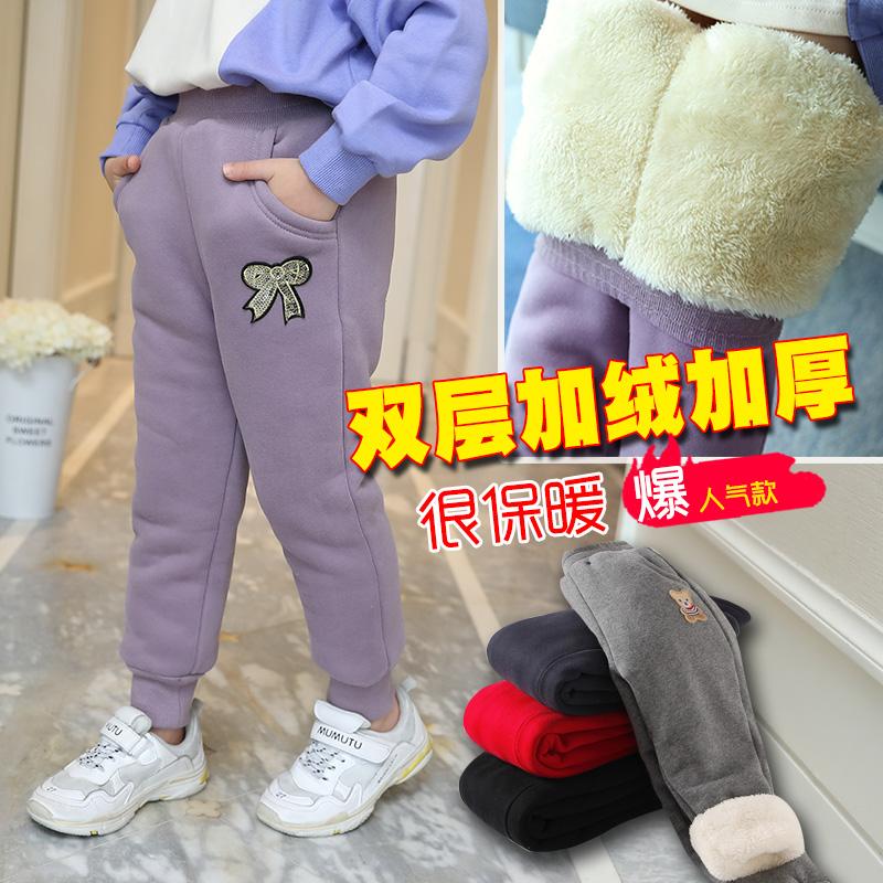 女大童棉裤加绒加厚外穿