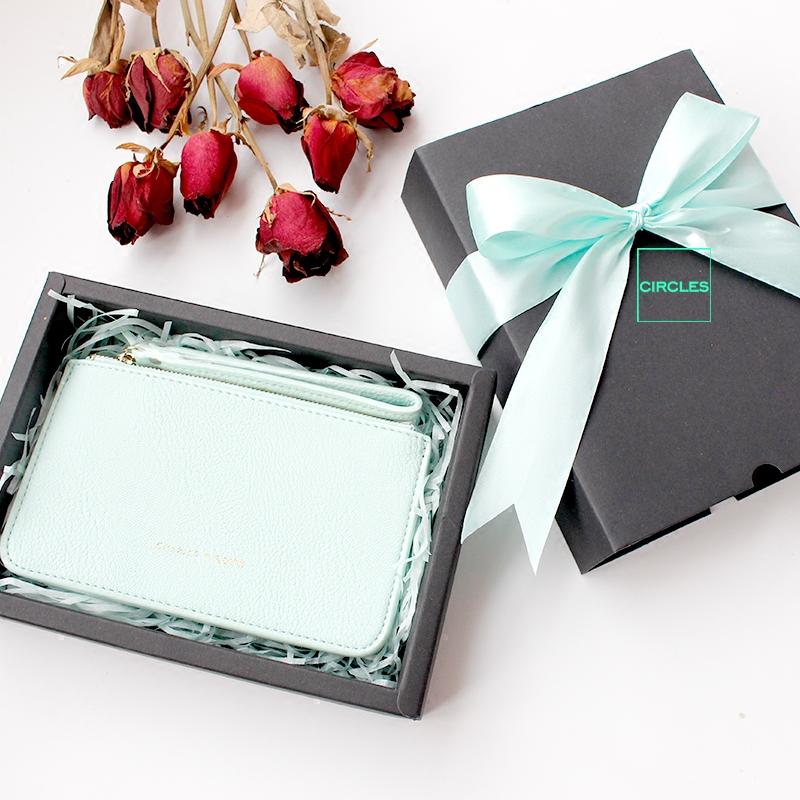 夏季薄荷绿手拿包钱包女小包手抓包礼品礼物礼盒哈