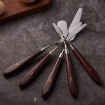 巧克力刮刀奶油小刮刀5件套 蛋糕裱花抹平抹面刀调色烘焙工具套装