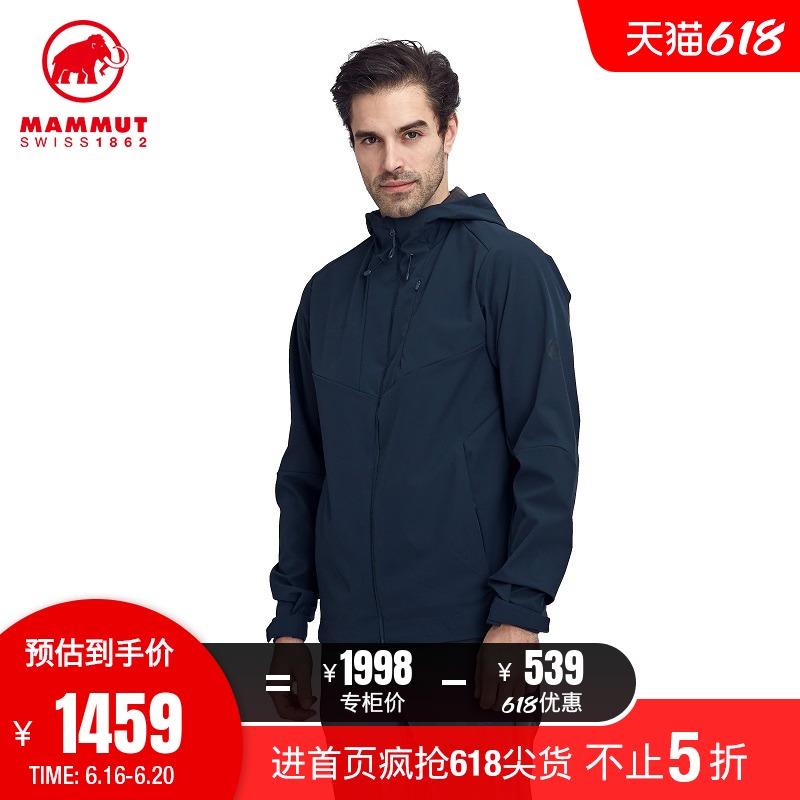 MAMMUT猛犸象Sapuen男士经典休闲弹性舒适透气防泼水软壳修身夹克