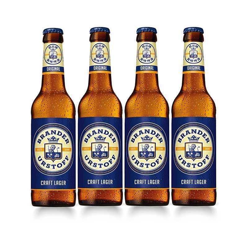 4瓶精酿啤酒 巴兰德真味拉格小麦啤