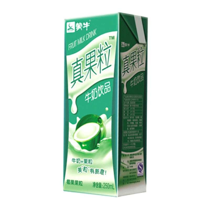 ~蘇寧易購超市~蒙牛 真果粒 牛奶^(椰果果粒^) 250ml^~12盒