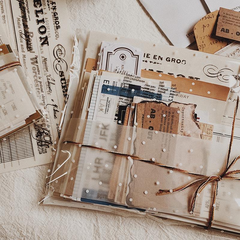 KIMU 素材 | 新品 | 飘洋过海投递给那人的包裹 拼贴素材包