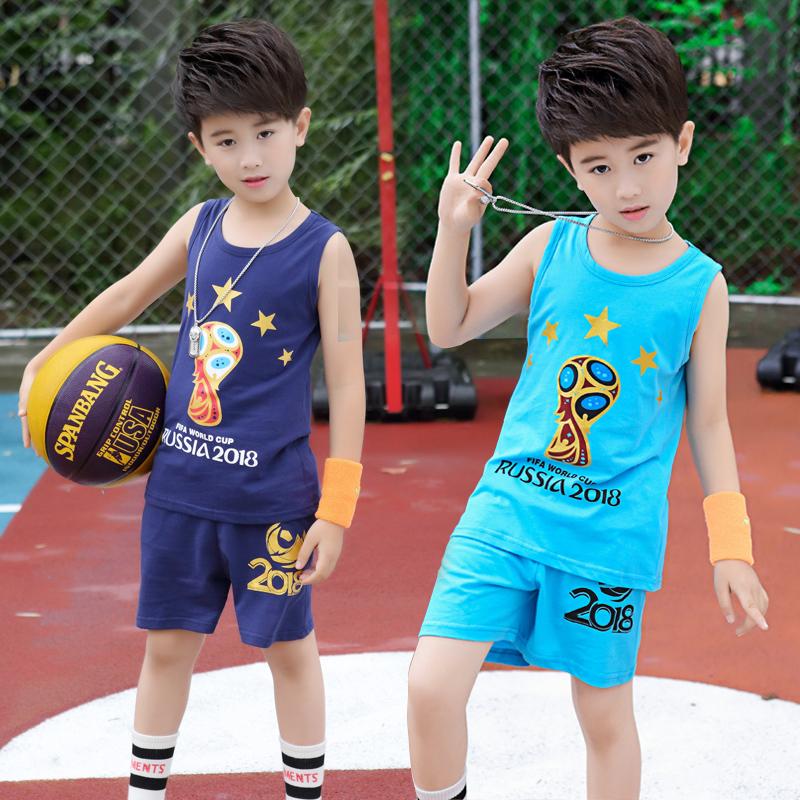 男童夏装背心套装薄款4童装6中大童7纯棉8背心短裤运动两件套12岁