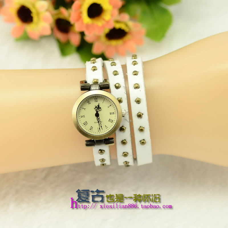Rome rivet punk belt fashion Korean retro Bracelet Watch Ladies Watch New Trend leisure package