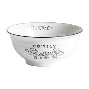 雅诚德套装一人食家用学生陶瓷饭碗