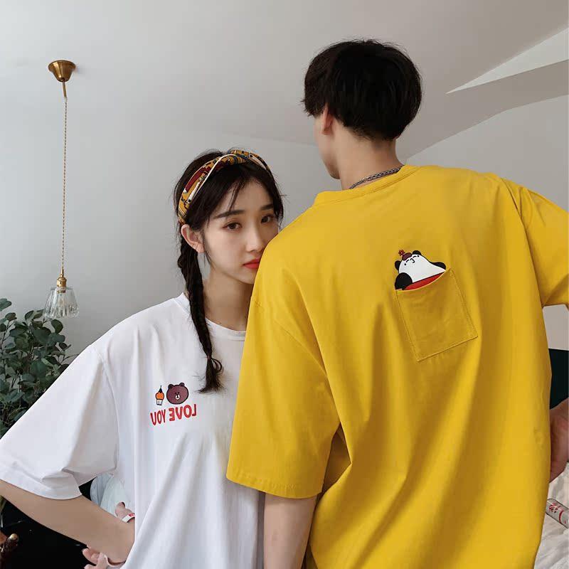 券后28.00元夏装新款韩版潮流情侣装宽松t恤