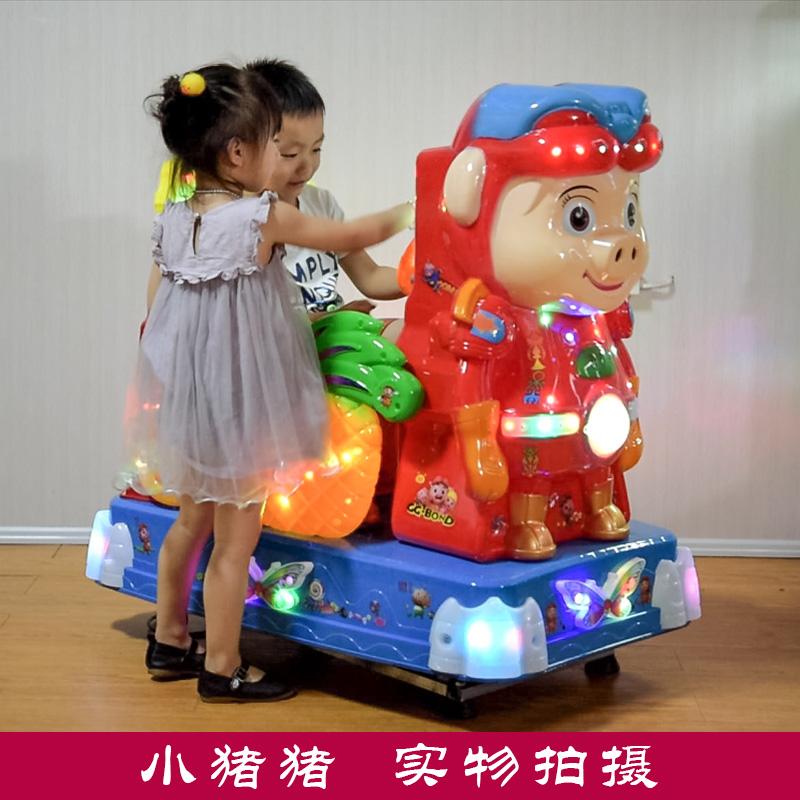 Озноб автомобиль новый 2017 монета ребенок электрический игрушка бизнес домой с музыкой удаленный удаленный мрамор сокровище качели машинально