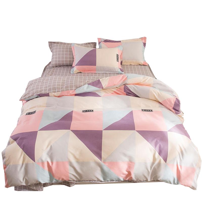 简约网红4件套双人床单被套三件套床上用品学生宿舍春季四件套