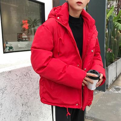 双十一主推款原创设计韩版连帽棉衣男AW90-P108低于138投诉已注册