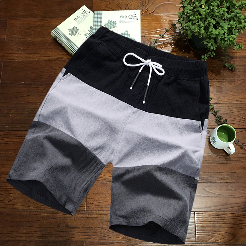 Shorts mens summer sports pants cotton hemp 2019 new big underpants beach pants lovers fashion mens casual pants