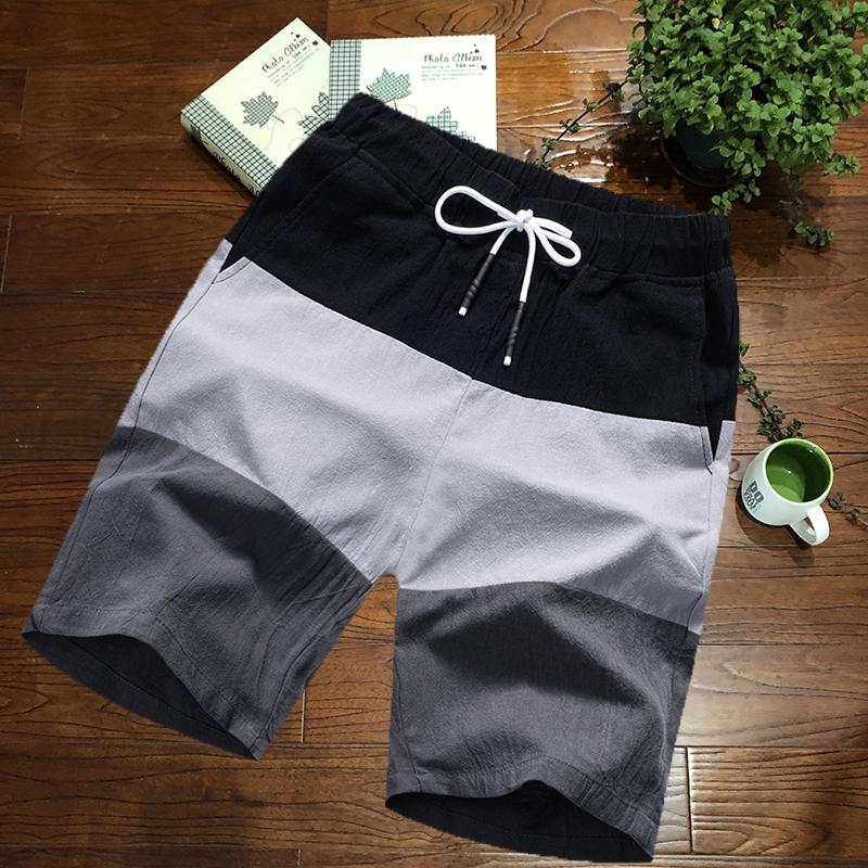 Shorts mens summer sports pants cotton hemp 2019 new big underpants beach pants lovers fashion mens casual pants