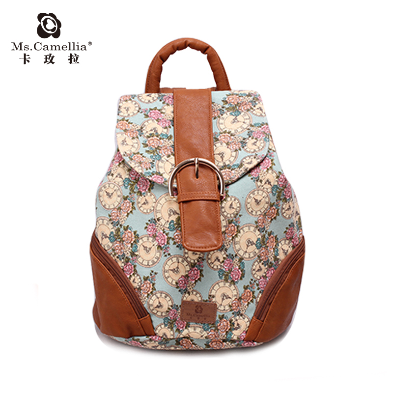 2017 new Yunnan ethnic double shoulder handbag cm61 retro wind magnetic buckle PU leather bag large capacity bucket bag
