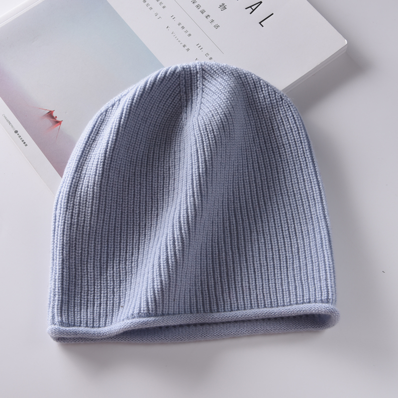 Autumn and winter ear protection cashmere hat knitted wool hat thickened warm casual mens and womens headgear Korean version