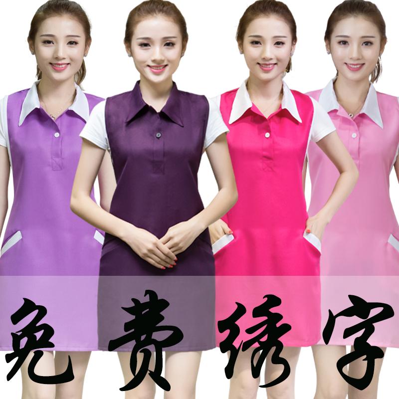 Aprons, workwear, beauty salon, beautician, manicure shop, mother and baby fashion, Korean version waiters, large size customized logo, female