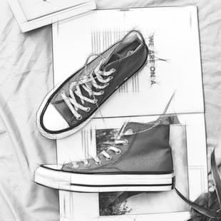 男女学生韩版 情侣鞋 1970s高帮帆布鞋 原宿百搭复古港味夏季 子 板鞋