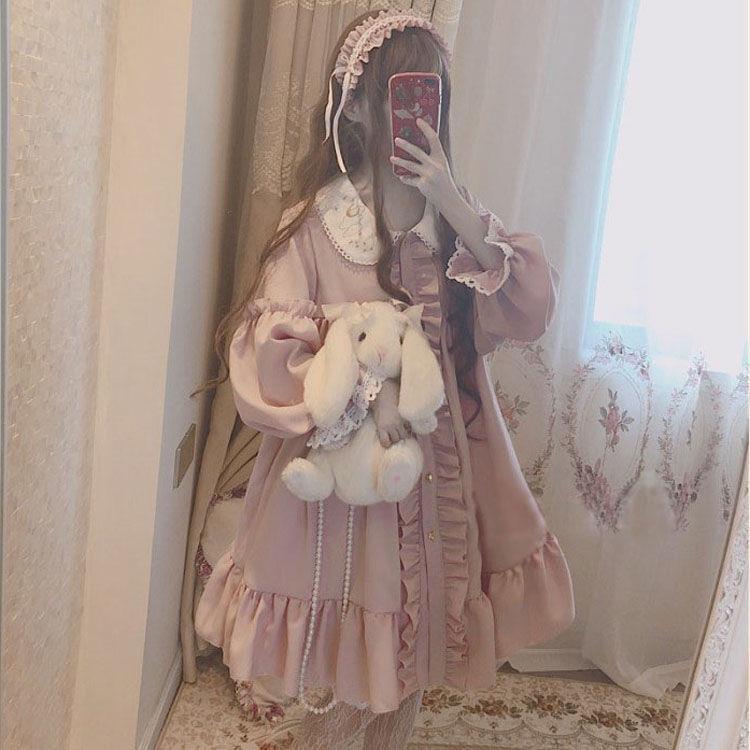 12月04日最新优惠lolita裙樱茶正洛丽塔洋装星空系超仙全套华丽闺蜜装日系lolita裙