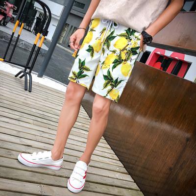 夏季男士大码花色高品质微弹棉沙滩裤五分裤花短裤K713-P35
