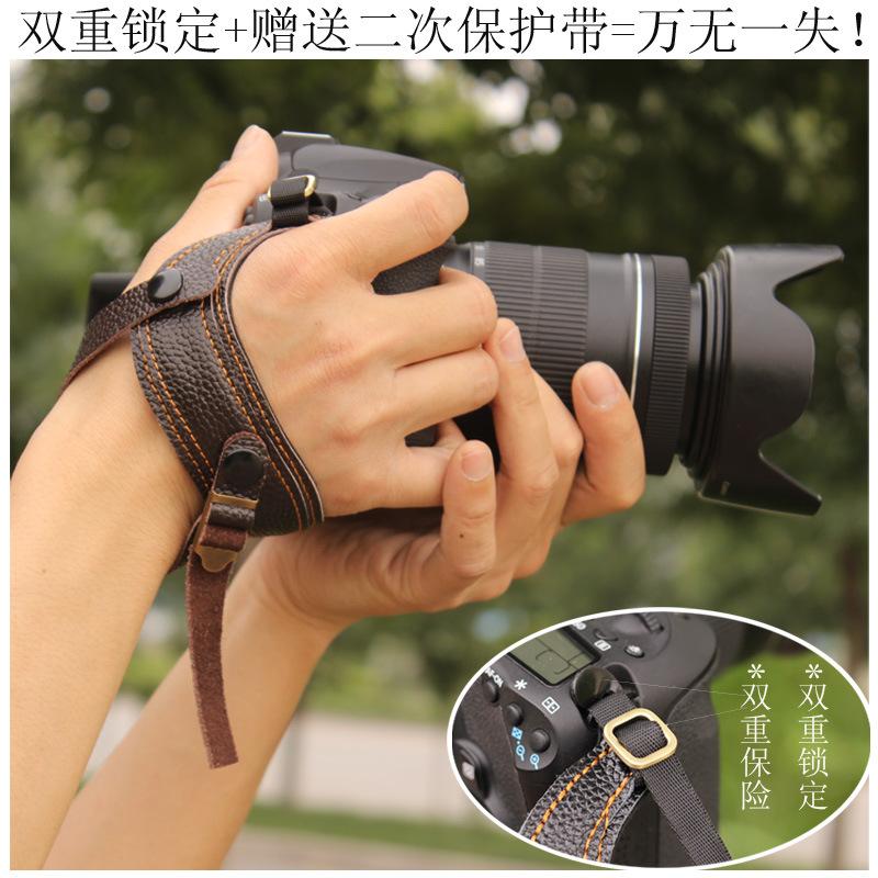 摄途跟手单反相机手腕带人体工学快摄相机带微单防摔真皮相机腕带
