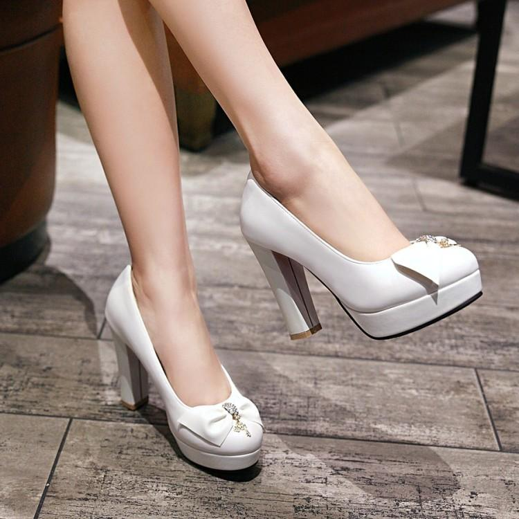 Spring and autumn Japanese and Korean super high heel sweet college style bow Lolita Lolita soft girl cos single shoe girl