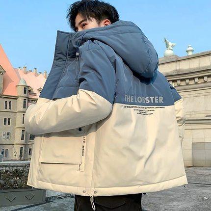 2019新款男士冬季潮流羽绒短款棉服
