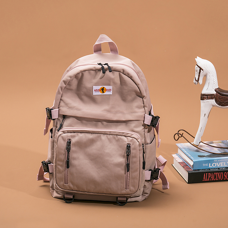 Middle School Student Backpack female Korean version simple college student schoolbag male high school campus leisure travel backpack large capacity