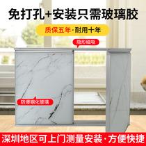 橱柜门定做晶钢门钢化玻璃浴室瓷砖定制灶台带框自装订制厨房门板