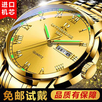 瑞士进口全自动机械表手表男防水夜光双日历时尚商务女士情侣腕表