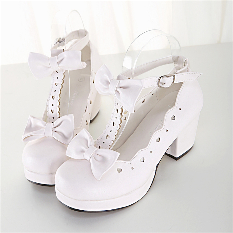 Lolita shoes girl student lovely round head cos Princess Japanese Lolita original soft girl high-heeled Lorita shoes