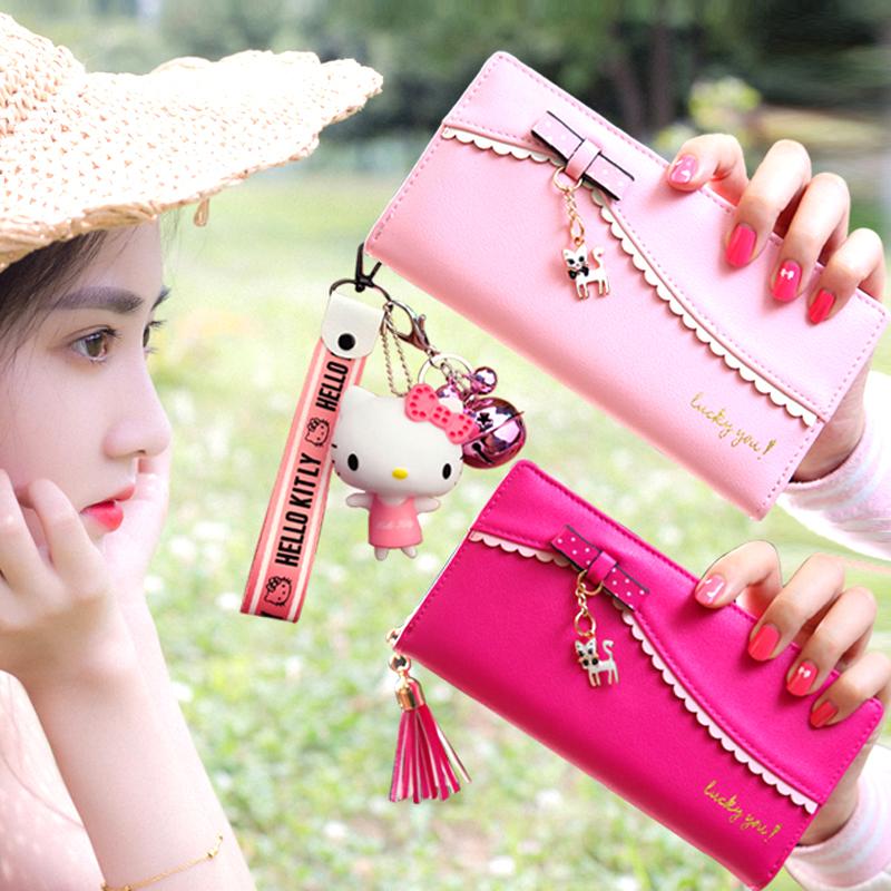 財布の女性の長さは2020日に韓国版のファスナーが小さくて清新で、個性的な大容量の学生が多いです。