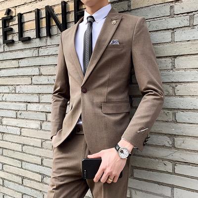 春装新款绅士西服男装套装两件套男西装A230-1-TZ822两件套-P245