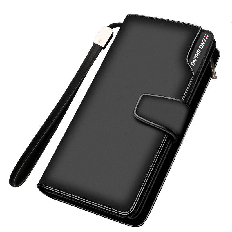 «Ежедневные specials» подлинные мужчины бизнес бумажник большой zip вокруг бумажник кожи деньги клип мужчин сумки кошелек